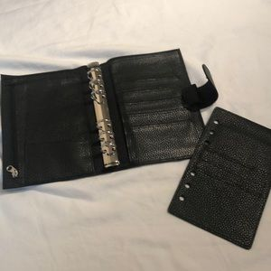 Other - Black leather planner
